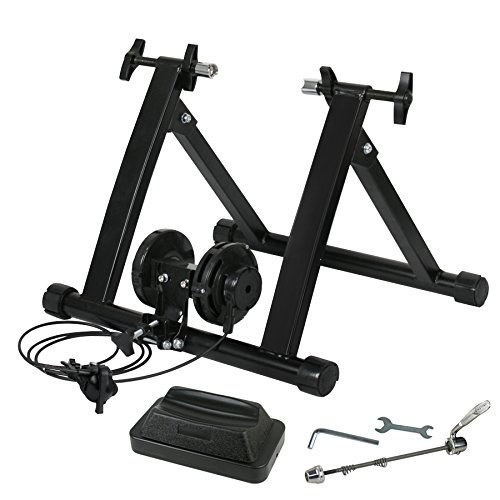 SUPER DEAL Indoor Magnet Steel Bike Bicycle Exercise Trainer Stand w/ 8 Levels Resistance Stationary (#1)
