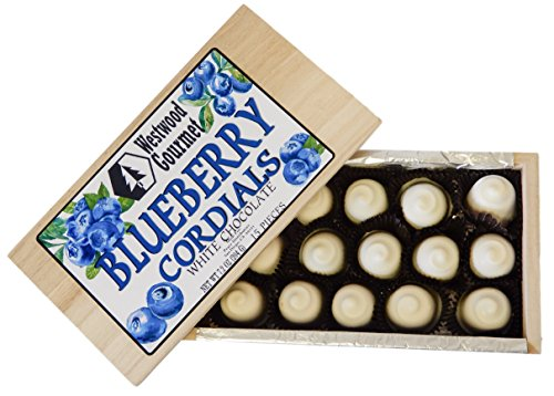 Westwood Gourmet Chocolate Cordials Gift Box (Blueberry White Chocolate)