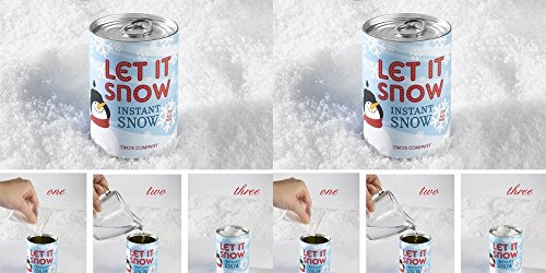 Two's Company Instant Magic Snow in Can - Set of 2 by Two's Company
