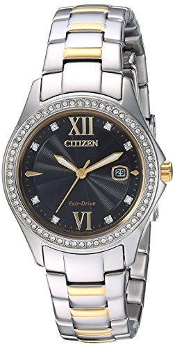 Citizen Women's 'Eco-Drive' Quartz Stainless Steel Casual Watch, Color:Two Tone (Model: FE1144-85E)