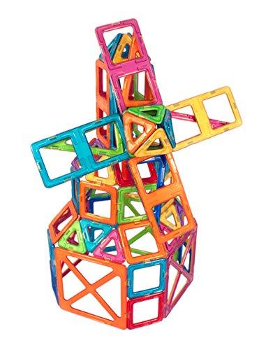 51GlqkFWodL - Magformers Smart Set (144-piece ), Deluxe Building Set. magnetic building blocks, educational magnetic tiles, magnetic building STEM toy set
