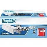 Rapid RPD538B5000 High Performance Staples, No.53, Leg Length 8 mm, - 5000 Pieces - silver