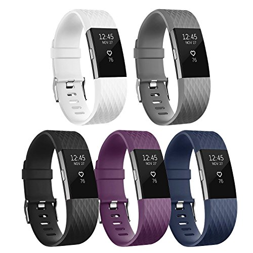 POY Fitbit Charge 2 Bands, Classic & Special Edition Replacement bands for Fitbit Charge 2, Large (Special Replacement)