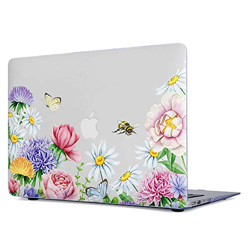New MacBook Air 13 Inch Case 2018 Release A1932, Onkuey Plastic See Through Pattern Rubberized Hard Shell Cover for Newest MacBook Air 13 Inch with Retina Display fits Touch ID ()