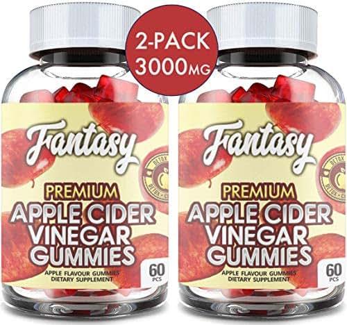(2 Pack   120 Gummies) Organic Apple Cider Vinegar Gummies with The Mother - Gummy Alternative to Apple Cider Vinegar Capsules, Pills, ACV Tablets