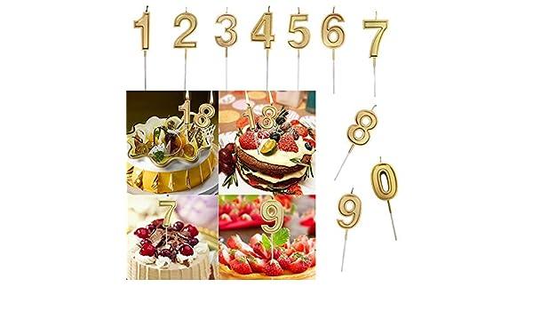 TAOtTAO - Vela con número de cumpleaños para decoración de Tartas ...