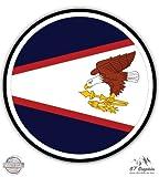 "American Samoa Flag - 3"" Vinyl Sticker - For Car Laptop I-Pad Phone Helmet Hard Hat - Waterproof Decal"
