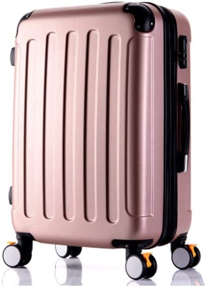 Color : Metallic, Size : 20 20//22//24//26 Inches Black The Latest Style Hard Case Guyuexuan Carry Suitcase Simple Rotating Suitcase Simple and