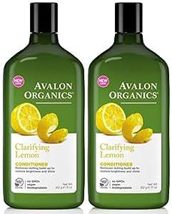 Avalon Organics Lemon Clarifying Conditioner, 11 -Ounce Bottle (Pack of 2)