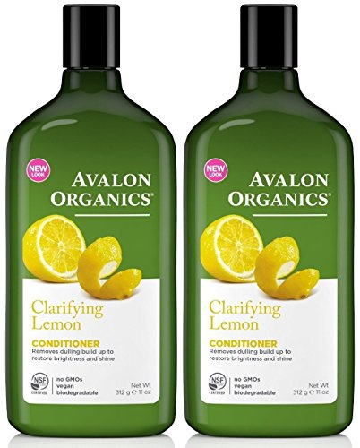 Avalon Organics Lemon Clarifying Conditioner, 11 -Ounce Bottle (Pack of 2)
