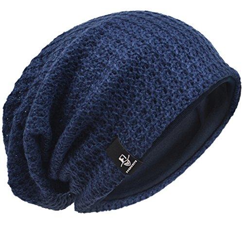 Verano de Slouch Punto Gorro Knit Armada Beanie Invierno Hombre Hat 5nwv0WxO5