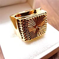 A.Yupha Men Jewelry Hip Hop 14K Yellow Gold Filled Boy Heavy Mens Ring R70 9#-11# (11)