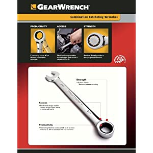 GearWrench 9317 7-Piece SAE Ratcheting Wrench Set
