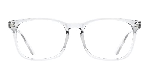 6af728f32462 TIJN Chic Square Glasses Clear Frame Non-Prescription Eyeglasses for Men  Women