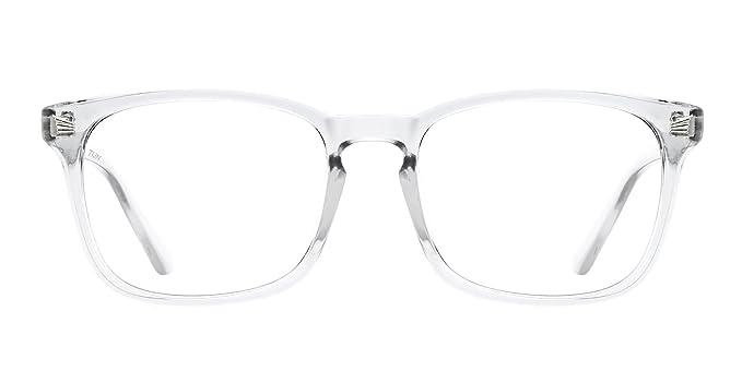 3a179fb14e TIJN Stylish Square Non-prescription Glasses Eyeglasses Clear Lens Eyewear  Frame for Women Men