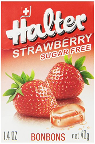 Halter Sugar Free Candy, Strawberry, 1.41-Ounce Boxes (Pack of 8)
