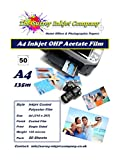50 x A4 OHP Inkjet Transparency Film sheets 135 micron Instant Dry