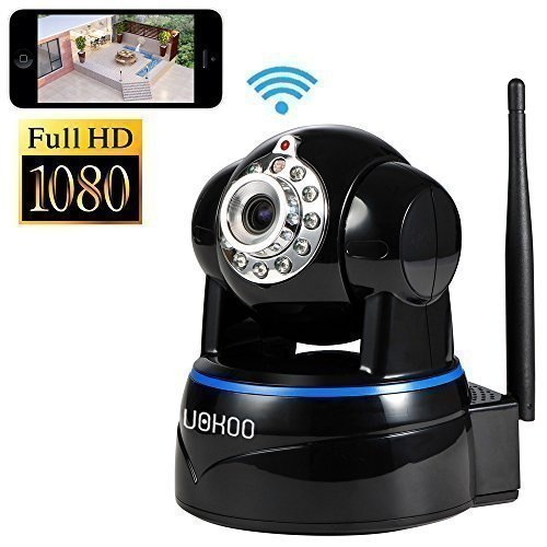 IP Camera, Uokoo 1080p WiFi Security Camera Built-in Microph