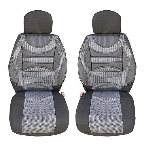 2 vordere Sport Auto Sitzbezug Sitzbezü ge Schonbezü ge Schonbezug Grau Hochwertig Neu A1