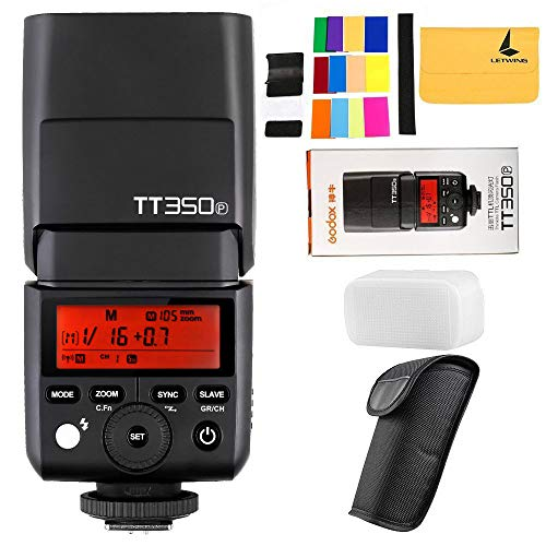 GODOX TT350P Thinklite 2.4G HSS 1 / 8000s TTL GN36 Camera Flash Compatible PENTAX 645Z K-3II K-1 KP K-50 K-S2 K70 Camera