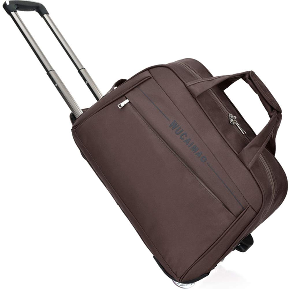Color : Brown, Size : 543329 Travel Bags Trolley Case High Capacity Waterproof Scratchproof fold Luggage Suitcases Carry On Hand Luggage Durable Hold Tingting