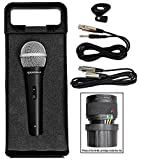 Rockville RMC-XLR High-End Metal DJ Handheld Wired Microphone Mic + 1/4'' Cable