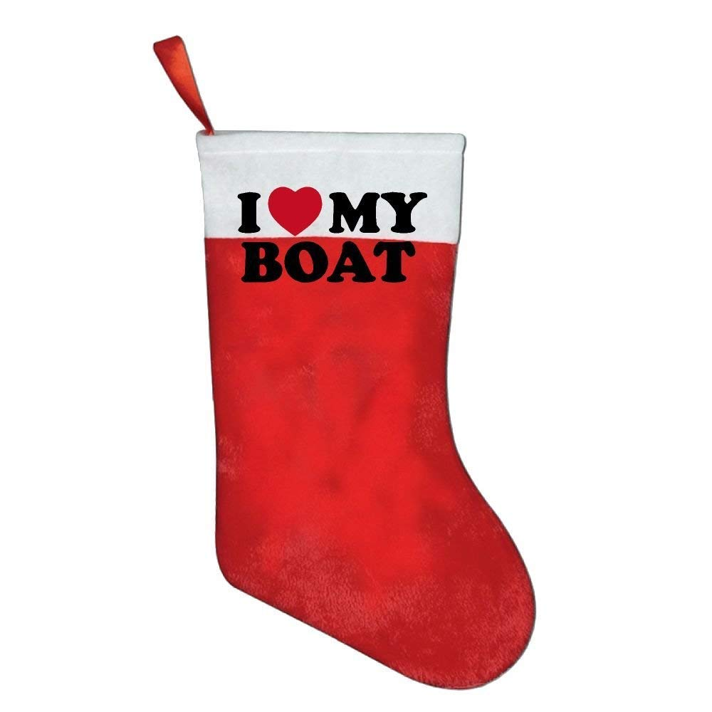 coconice I Love My Boat Christmas Holiday Stockings