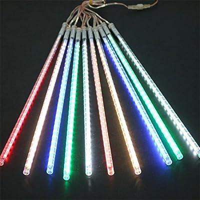 Lovely Stars LED Christmas Lights 10pcs/set 50cm Snowfall Tube Meteor Shower Rain Tube LED String Colorful Christmas Lights Outdoor