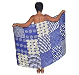 African-Basket-Quilted-Sarong-Pareo-BeachWrap-Swimsuit-Coverup