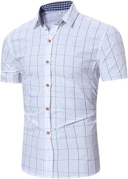 Camisa De Leñador Camisa Clásica De Manga Corta para Ropa Hombre De Solapa De Moda Polo Fit Camiseta De Negocios Informal De Verano Camiseta Tops Básica: Amazon.es: Ropa y accesorios