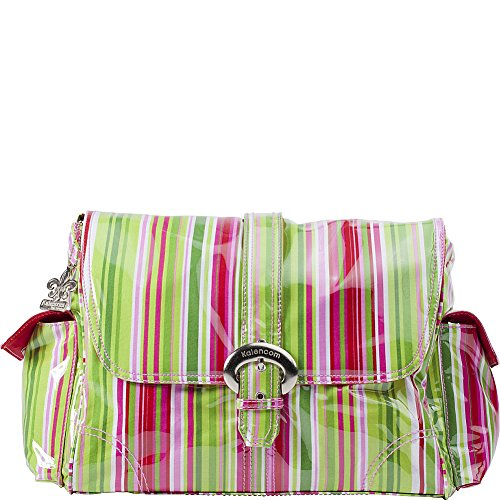 Kalencom Fashion - Bolso cambiador con accesorios, diseño de lunares, color marrón y azul Jazz Stripes Ruby