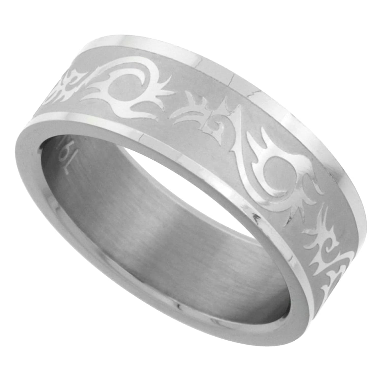 It is just a graphic of Wedding Rings Men Tribal Pattern Stainless Steel Wedding Band & Ring