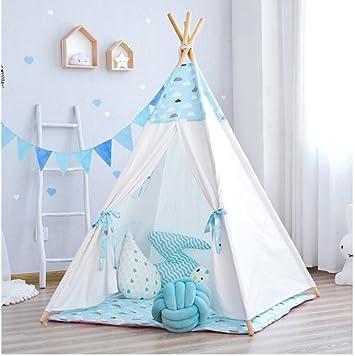 Matissa Tienda de Carpa para niños Indios Tienda de campaña para Juegos de Interior Casa de Juegos y Accesorios para Acampar (Nubes Azules, Tienda de campaña): Amazon.es: Juguetes y juegos