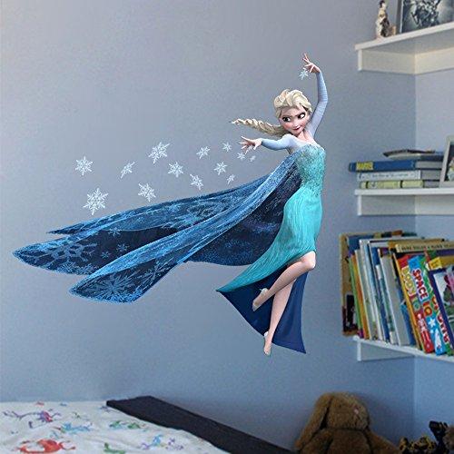 Removable STICKERS by Princess QUEEN ELSA Frozen 3d DIY wallpaper Decal WALL Revesun wwZIUqx