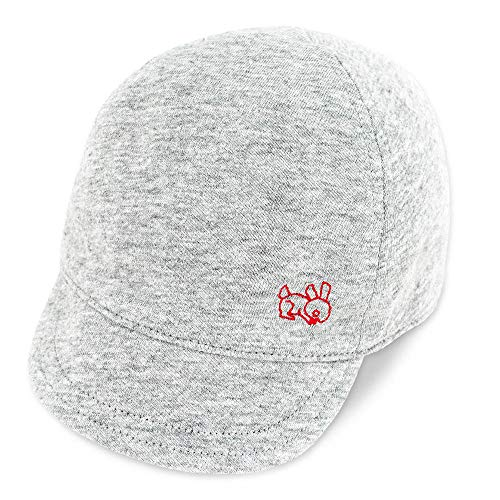Keepersheep Baby Reversible Baseball Cap Infant Sun Hat, Shell Embroidery Cotton (Gray-New Size, 3-6 Months)
