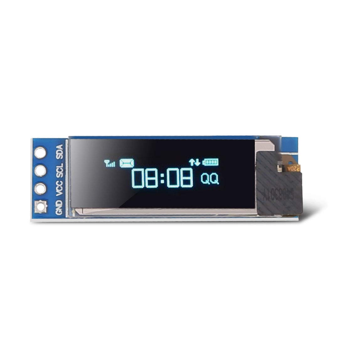 Dorhea 0.96 inch OLED i2c Display Module IIC Serial LCD Screen 0.96 LED Module Display Yellow Blue 12864 OLED //3.3V-5V 128 X 64 for Arduino Nano Display Raspberry Pi 51 Msp420 Stim32 SCR