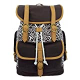 K-Cliffs Canvas Laptop Book-Bag Cotton Daypack Vintage Casual College Student School Bag/Backpack
