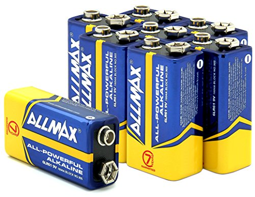 Allmax All-powerful Alkaline Batteries-1604A, 9V dry cell (8 pack)