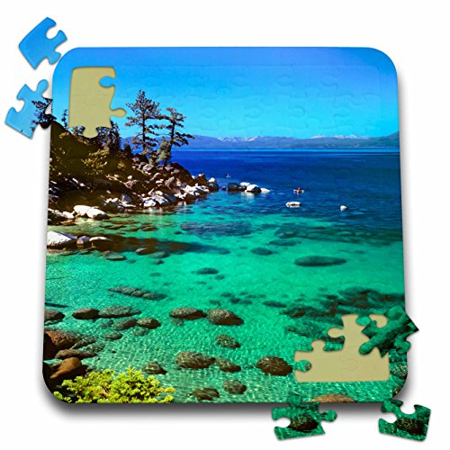 Price comparison product image 3dRose Danita Delimont - Kayaking - Nevada, Lake Tahoe. Kayakers - US29 RER0003 - Ric Ergenbright - 10x10 Inch Puzzle (pzl_92266_2)