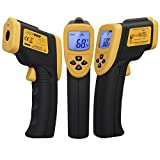 Etekcity Digital Infrared IR Thermometer Non-contact Instant Read Temperature Gun (-50°C to +750°C) Yellow