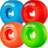 Mini-Logo C-Cut Green/Red / Blue/Orange Skateboard Wheels - 53mm 101a (Set of 4)