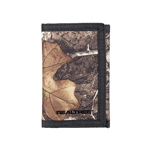 Real Tree Men's Nylon Trifold Wallet, Camo, One -