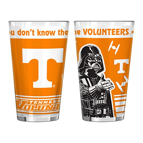 (NCAA Tennessee Volunteers Star Wars Sublimated Pint Glass, 16-ounce, 2-Pack)