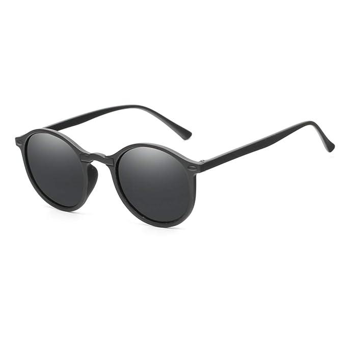 Amazon.com: Gafas de sol polarizadas redondas y pequeñas ...