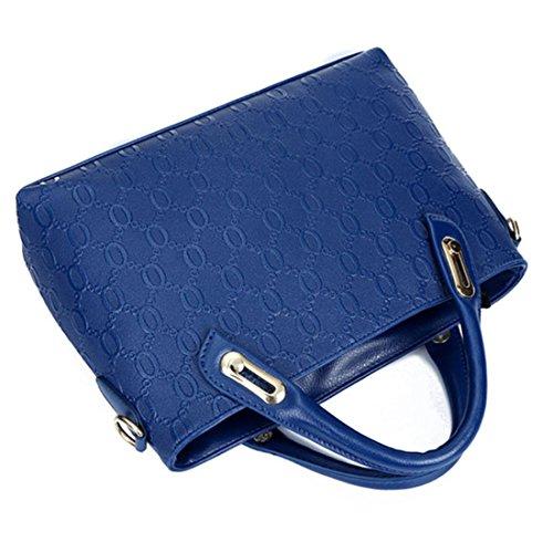 YYWPurse - Bolso de cuero Mujer Azul
