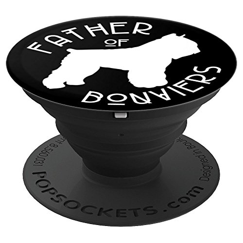 Funny Bouvier des Flandres Dog Lover Dad on Black PS13867 - PopSockets Grip and Stand for Phones and Tablets ()