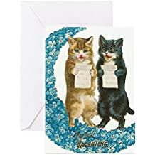 CafePress - Funny Singing Cats Greeting Cards - Greeting Card, Note Card, Birthday Card, Blank Inside Matte