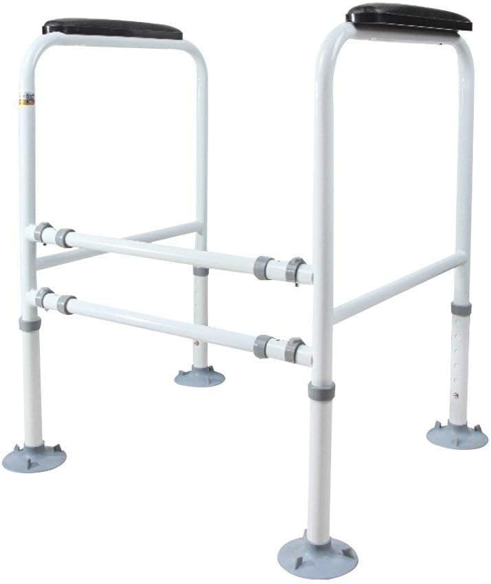Bathroom Safety Toilet Rail Stand Alone Adjustable Handrail Frame Suction Cups for The Elderly and The Pregnant Weak Patients Disabled Postoperative Safe Support Aid