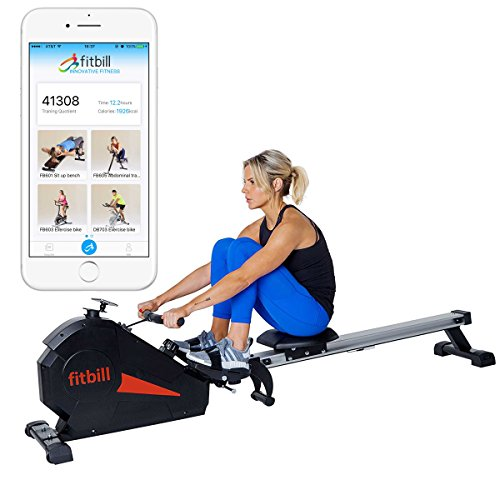 fitbill B607 Smart Magnetic Folding Rowing Machine Rower with Bluetooth sensor and Workout App by fitbill