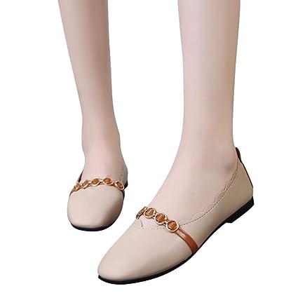 Bailarinas mujer, ❤️Sonnena Zapatos planos de mujer Primavera verano Zapatos deportivos sin cordones Zapatillas
